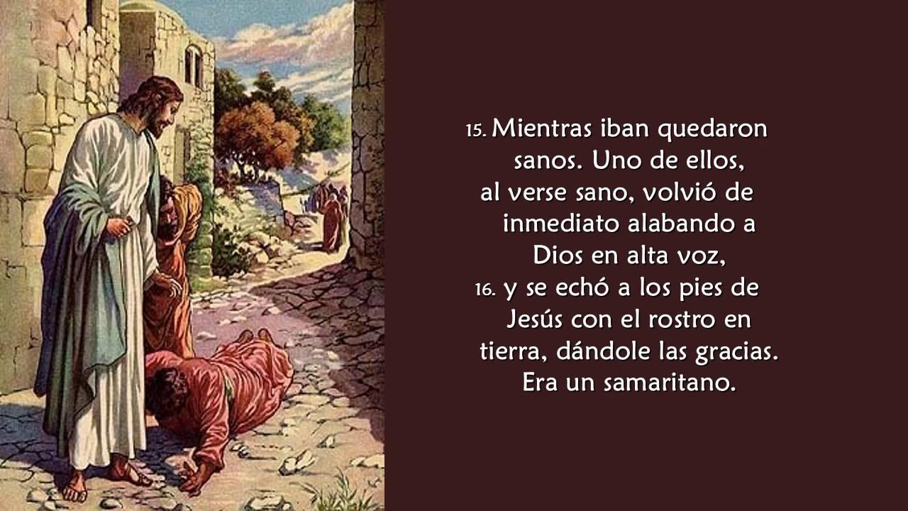 Evangelio San Lucas 17, 11 19 - YouTube