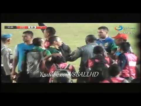 Kericuhan yang terjadi di Laga Barito Putera vs Bhayangkara FC