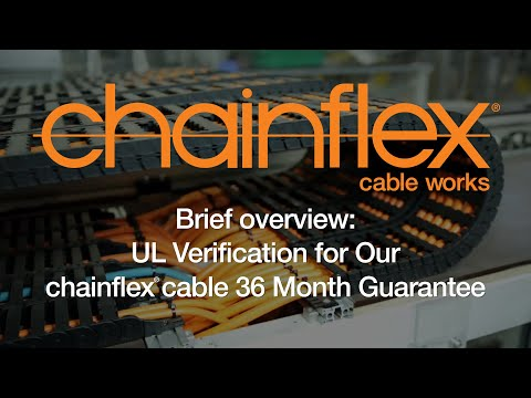Brief overview - UL Verification for Our chainflex® cable 36 Month Guarantee