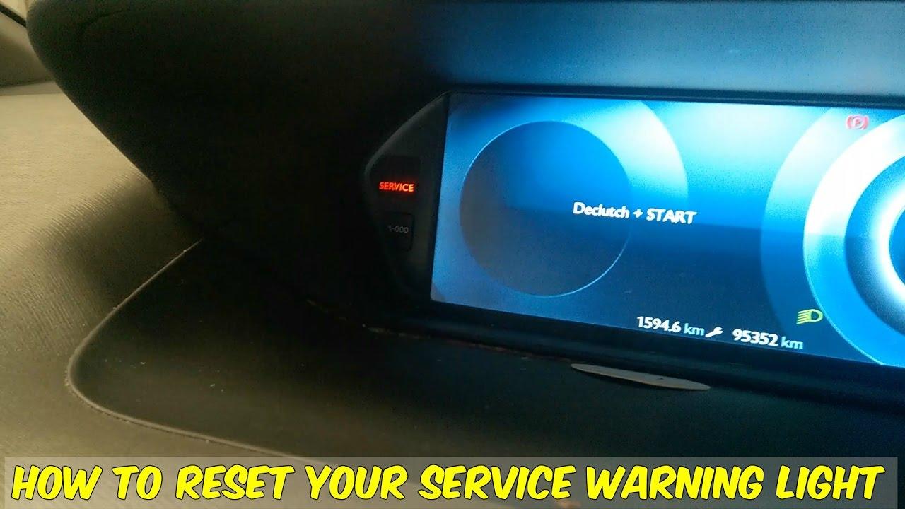 Citroen C4 Picasso Service Warning Reset