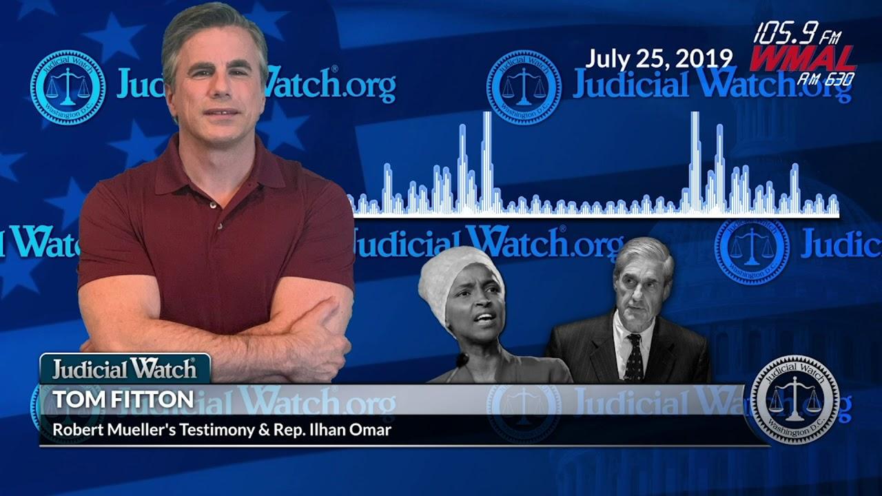 "Judicial Watch Mueller's Refusal to Discuss ""Corrupt Core"" of Anti-Trump Probe &"