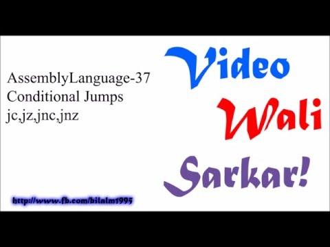 Assembly Language Tutorial Urdu Hindi No 37 - Conditonal Jumps jc , jnc,jz,jnz