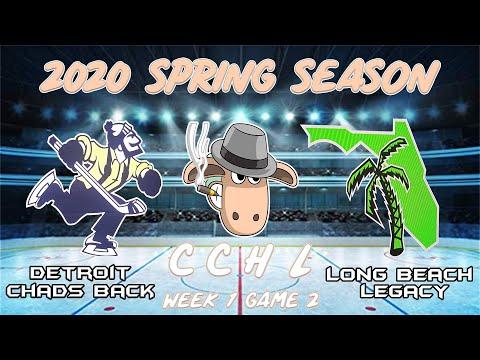 CCHL 2020 SPRING SEASON WEEK 1 GAME 2 - CHAD'S BACK @ LEGACY