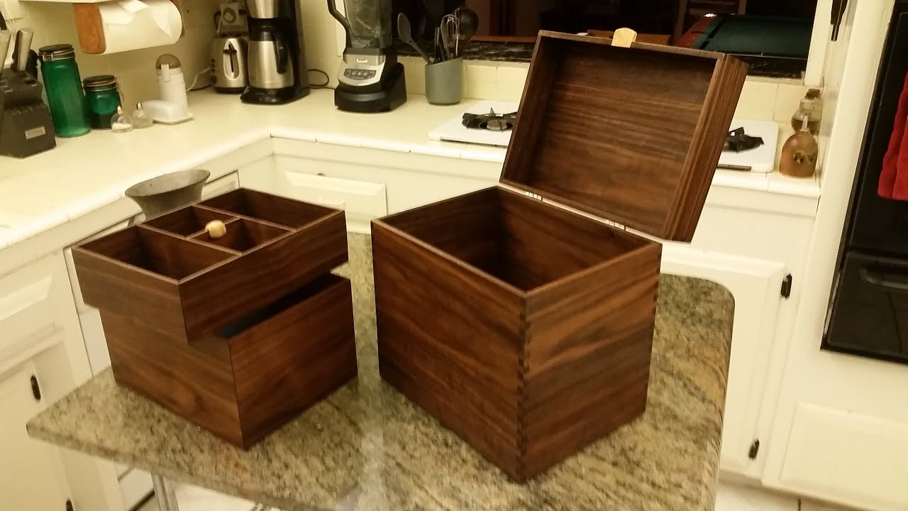 Secret Locking Compartment Walnut Man Box Jewelry Box