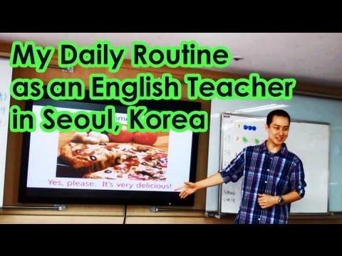 My Daily Routine as an English Teacher in Seoul, Korea