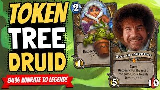 TREE DRUID IS BUSTED!! 84% to Legend with Help From Bob Ross! | Descent of Dragons | Hearthstone