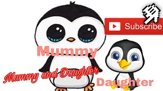 #DrawingHD MOMMY AND DAUGHTER PENGQUIN DRAWING FOR KIDS