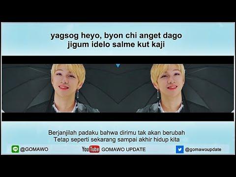 Easy Lyric WANNA ONE - I PROMISE U by GOMAWO [Indo Sub]