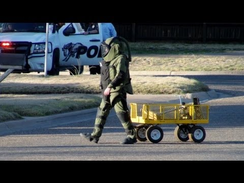 Suspicious Package Investigated by Bomb Squad