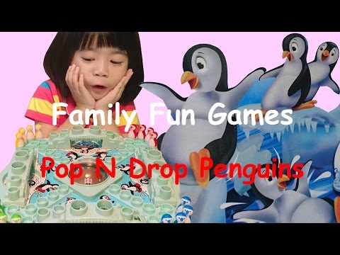 Family Fun Games Pop N Drop Penguins