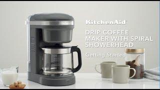 Video: KitchenAid Překapávací kávovar, tmavě šedý mat