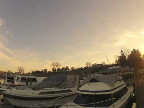 Sunrise at Georgetown Yacht Basin - Jan 2013, 12fps