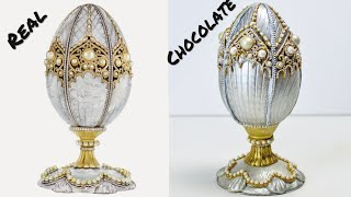 Making of the Fabergé pearl egg in Chocolate - because apparently my life wasn't complicated enough