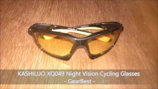 KASHILUO XQ049 Night Vision Cycling Glasses - GearBest
