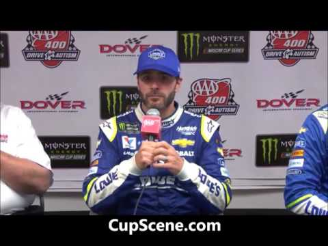 NASCAR at Dover International Speedway, June 2017:  Jimmie Johnson post race