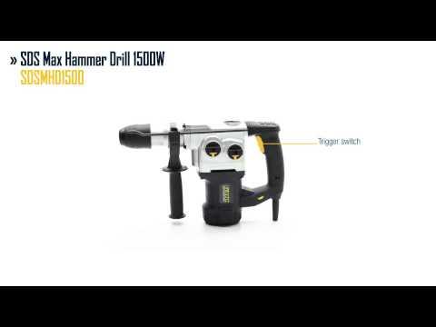 GMC SDS Max Hammer Drill 1500W
