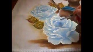 Como fazer rosa azul por Simone Moraes – Pincel Que Brilha