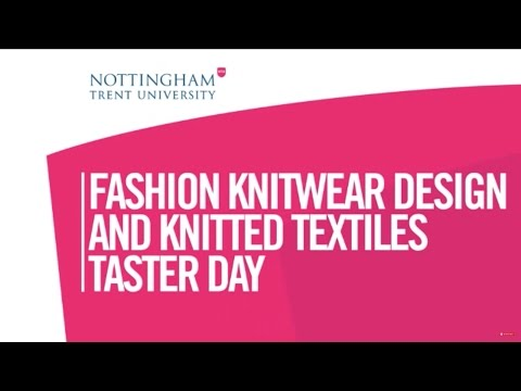 NTU Fashion Knitwear Design And Knitted Textiles (Taster Day)