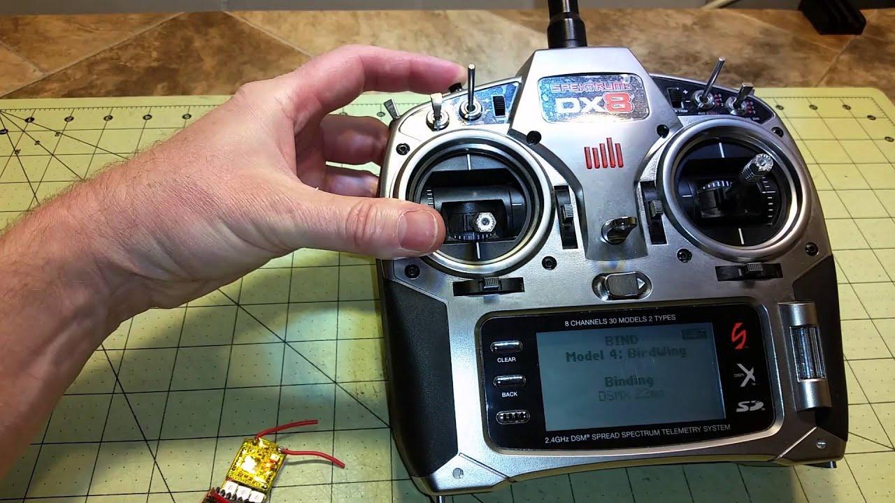 Binding OrangeRX R415X Receiver and OrangeRX RX3SM 3-asix Stabilizer