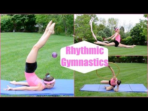 Artistic Gymnast Tries Rhythmic Gymnastics!