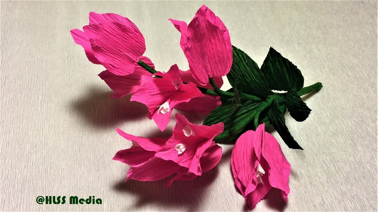 Beautiful Bougainillea Paper Flower Making Easy And Fast Diy Crepe
