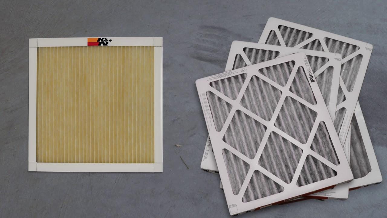 K&N Washable and Reusable Home Air Filters For Your HVAC System