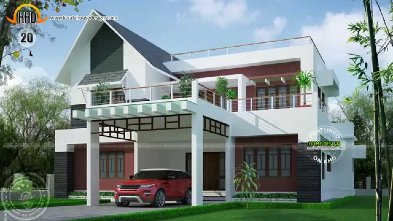 House designs of october 2014 youtube for Gallery house exterior design photos