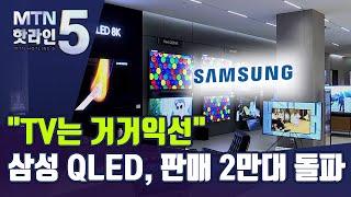 '큰 TV' 전성시대...삼성 QLED, 판매 2만대 …