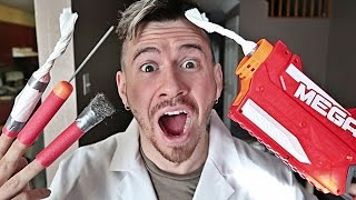 DIY FLAMING NERF DARTS!! (MOST DANGEROUS TOY OF ALL TIME)