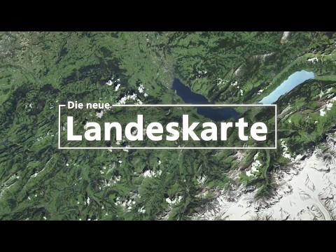 Video preview image for Die neue Landeskarte der Schweiz