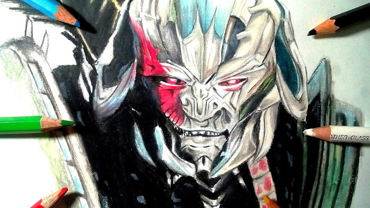 how to draw megatron transformers the last knight