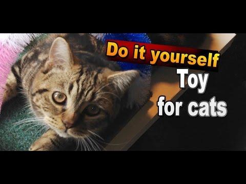 Игрушка для кошек и котят своими руками / Игрушки для кошек смотреть онлайн