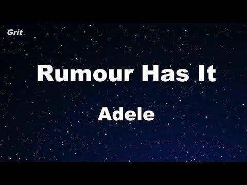Rumor Has It - Adele Karaoke 【No Guide Melody】 Instrumental