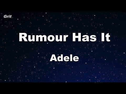 Rumor Has It - Adele Karaoke 【No Guide Melody】 Instrumental