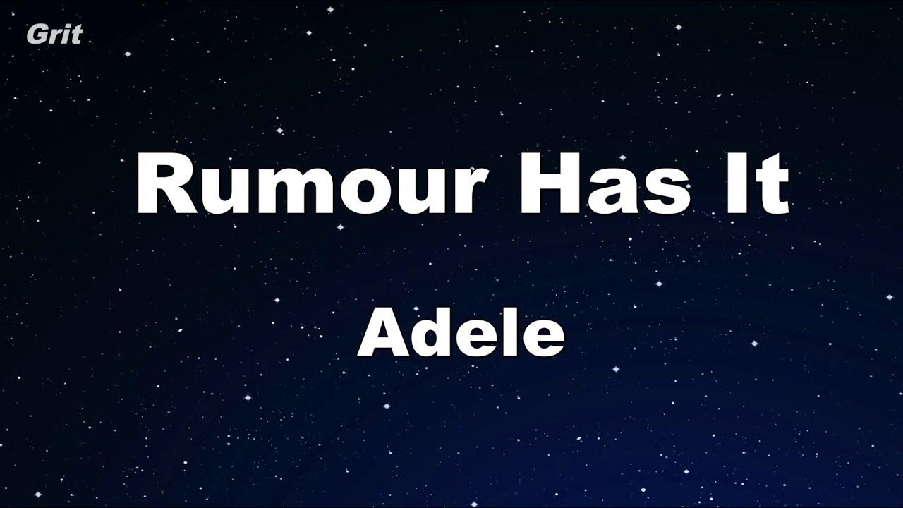 Rumor Has It Adele Karaoke  E  No Guide Melody E   Instrumental