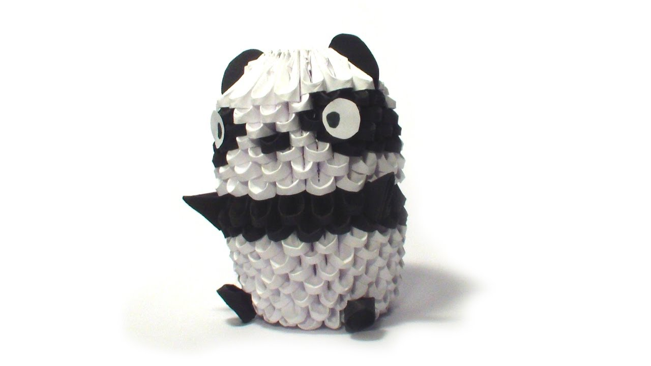 3D Origami Small Panda Tutorial