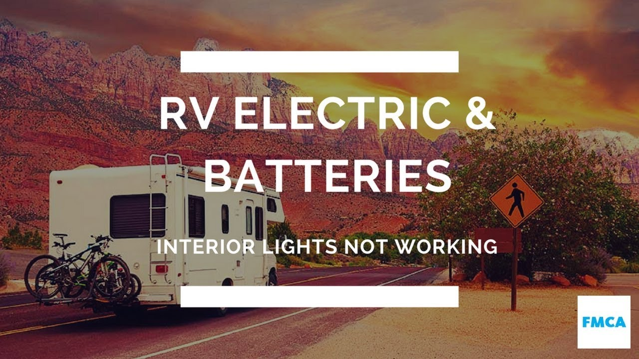 motorhome's 12-volt interior lights stopped working