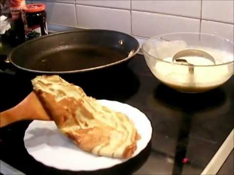 Como hacer crepes dulces creps dulces youtube - Hacer masa para crepes ...