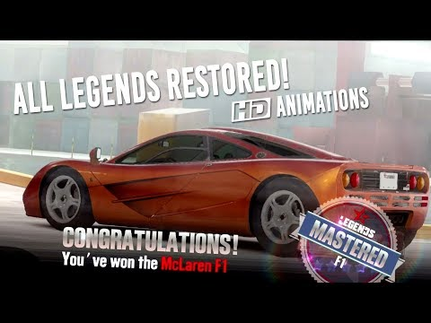 CSR Racing 2   All Restored Legends Animations! + McLaren F1 Delivery & Stage 5 Tune!
