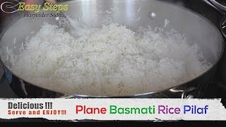 FAST RECIPE How To Cook Basmati Rice For Big Family | Plane Rice Pilaf | Vegan Recipe