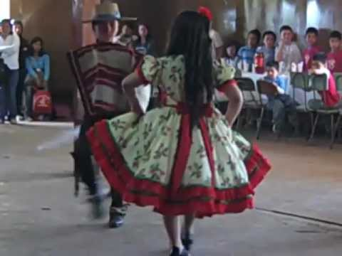 Children perform traditional dancing in Chile