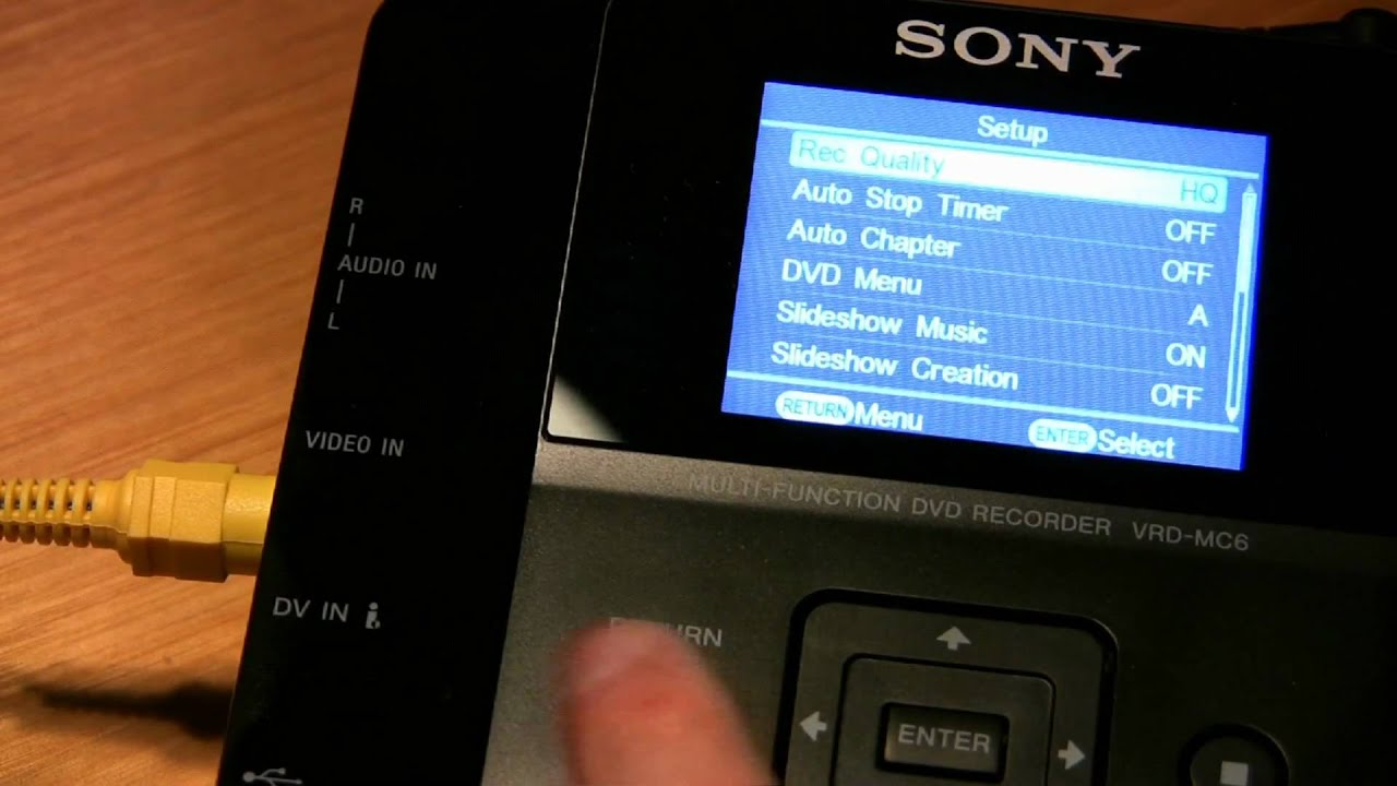 sony vrd mc6 dvd recorder youtube rh youtube com Aluma MC10 MC10 Plane