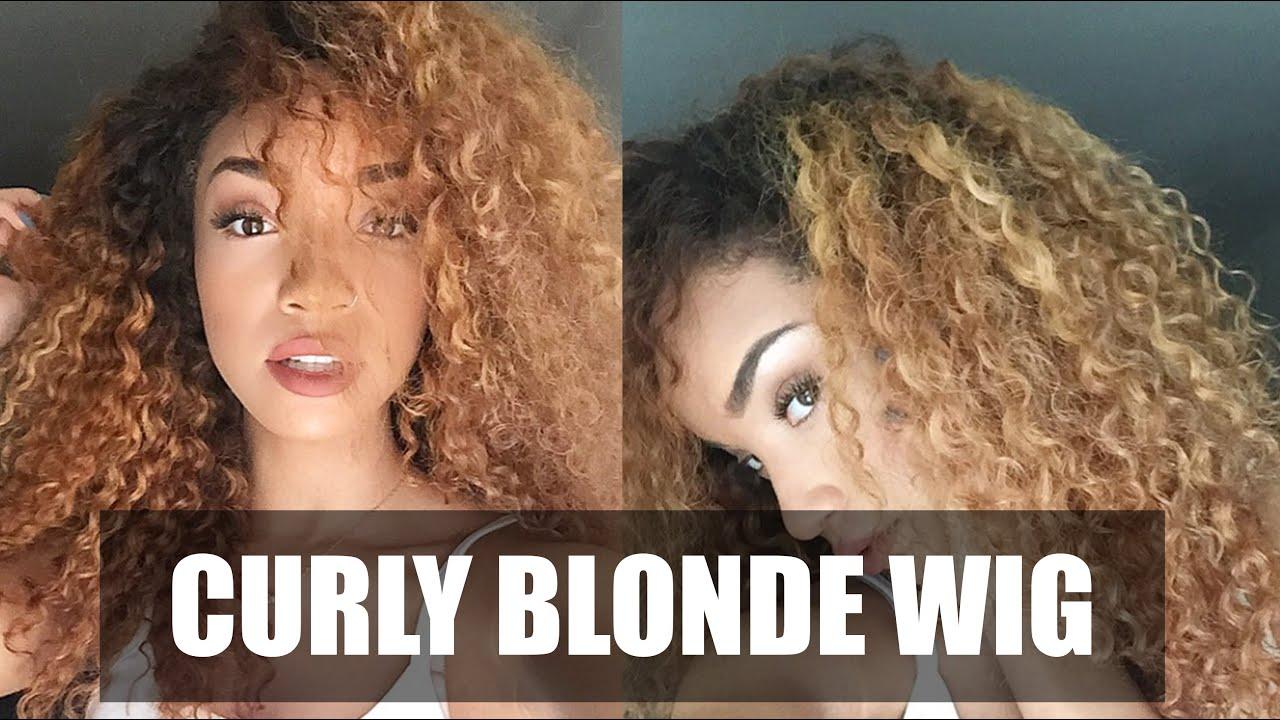 HAIR Curly Blonde DIY Wig (WowAfrican Virgin Brazilian - Curly Wig Hairstyles