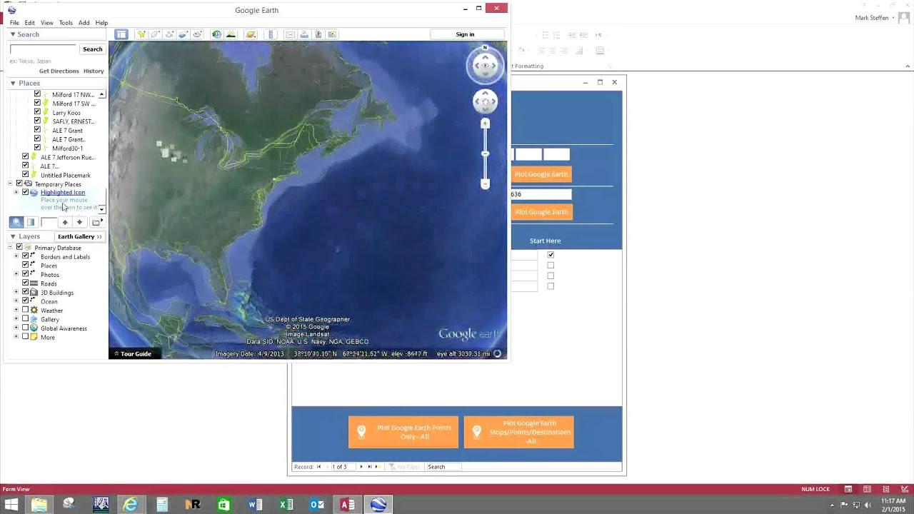 Google Earth Database Template | Microsoft Access