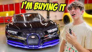 The Richest Kid In America Took Me Car Shopping... *Bugatti Chiron*
