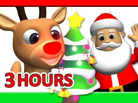 Kids Christmas Songs 3 Hours  Rudolf, Santa Claus, Frosty & More, Children Busy Beavers