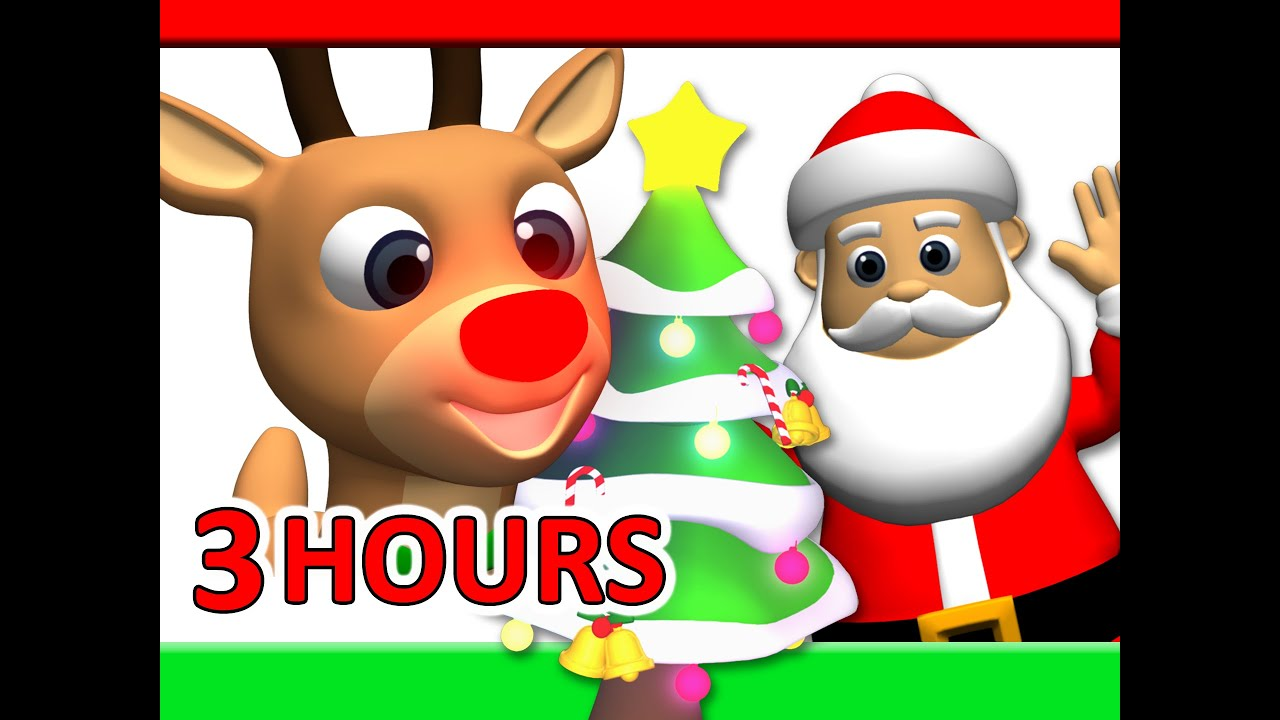 kids christmas songs 3 hours rudolf santa claus frosty more children busy beavers youtube - Santa Claus Children