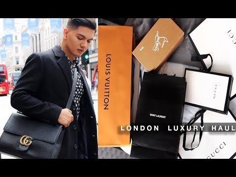 LONDON LUXURY HAUL!!! LOUIS VUITTON, GUCCI, SAINT LAURENT, ETC.
