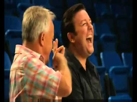 EXTRAS Bloopers: Ricky Gervais & Keith Chegwin - Pop Knob In Fanny