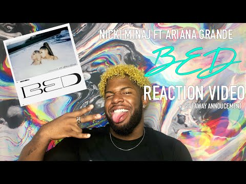 NICKI MINAJ - BED FT ARIANA GRANDE | REACTION VIDEO + GIVEAWAY ANNOUNCEMENT | TIGGYTV